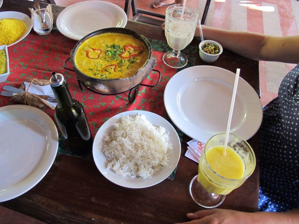 Saborosos pratos da Cabana da Empada