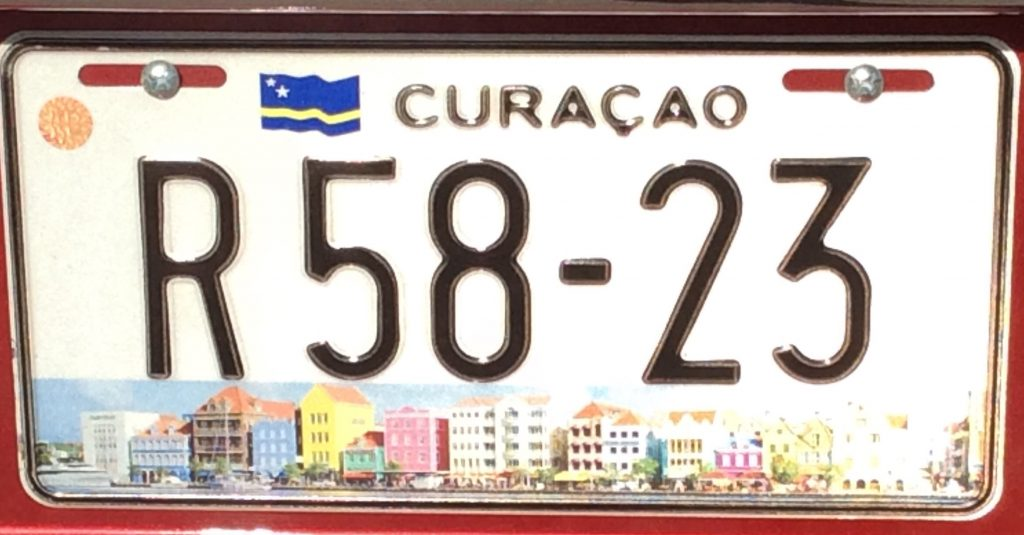 Curaçao placa dos carros