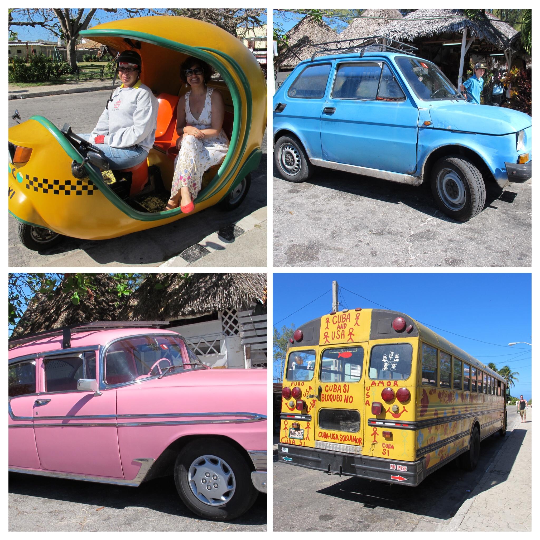 Tipos de transporte em Varadero Cuba