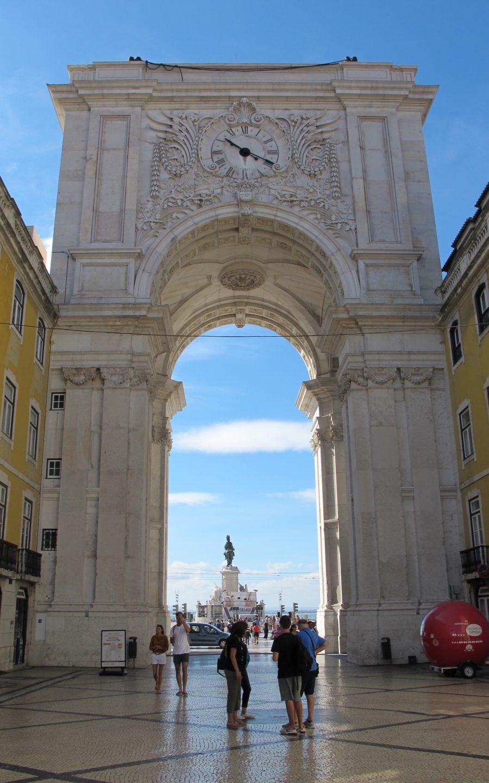Algumas horas em Lisboa - Arco da rua Augusta