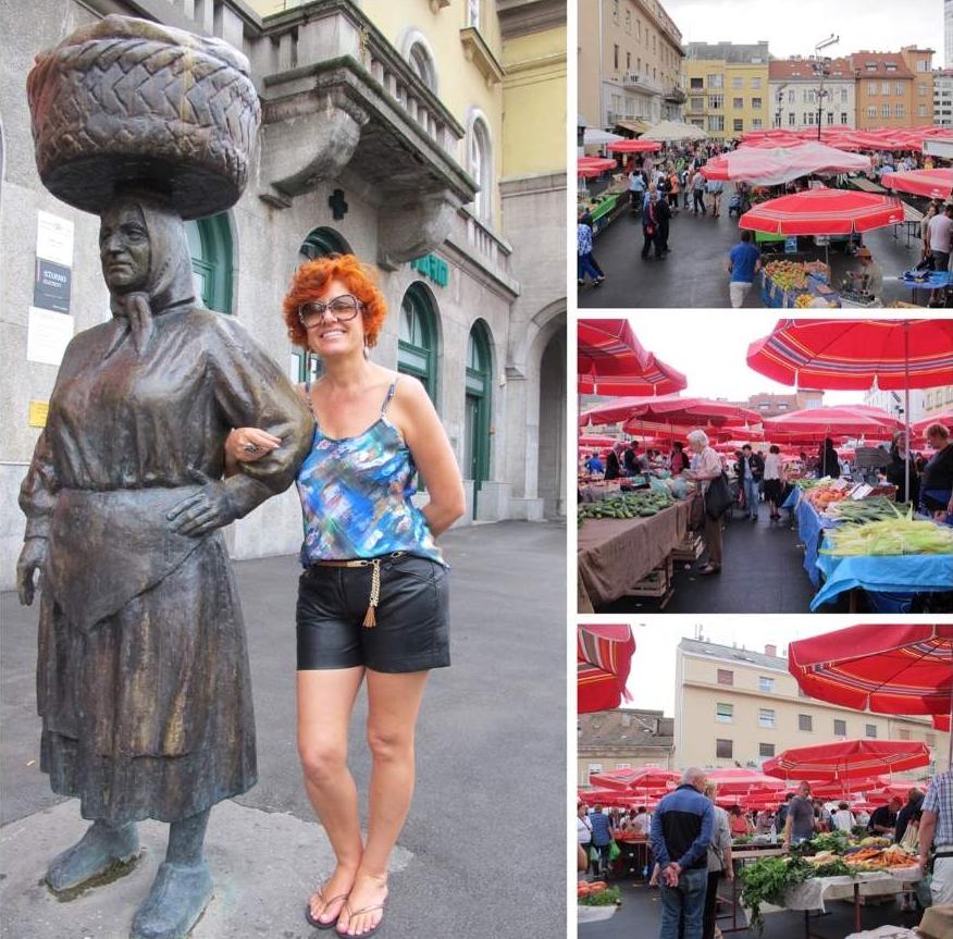 o que fazer em Zagreb Mercado Dolac