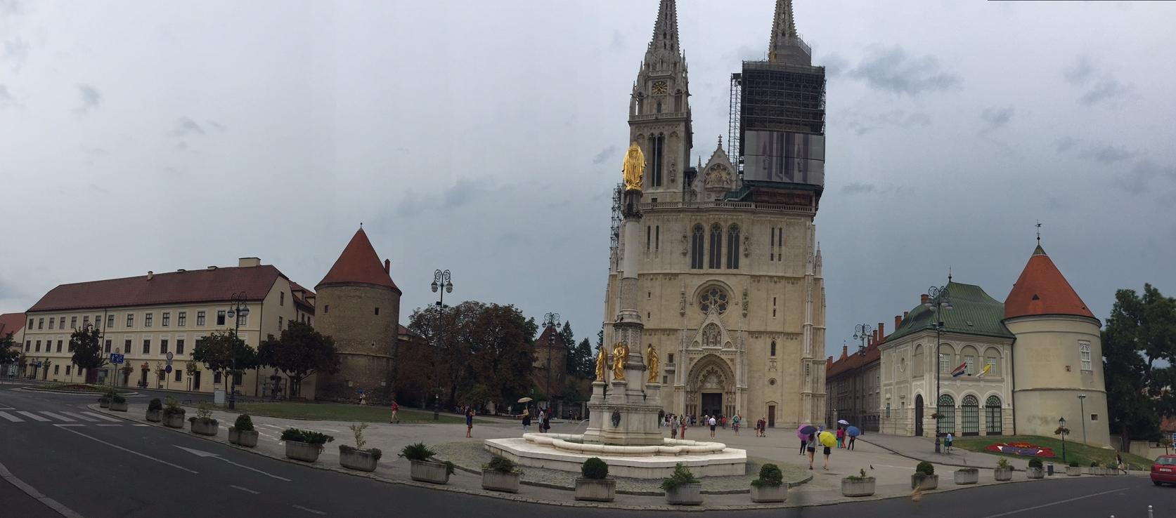 Zagreb Panorâmica Praça Kaptol