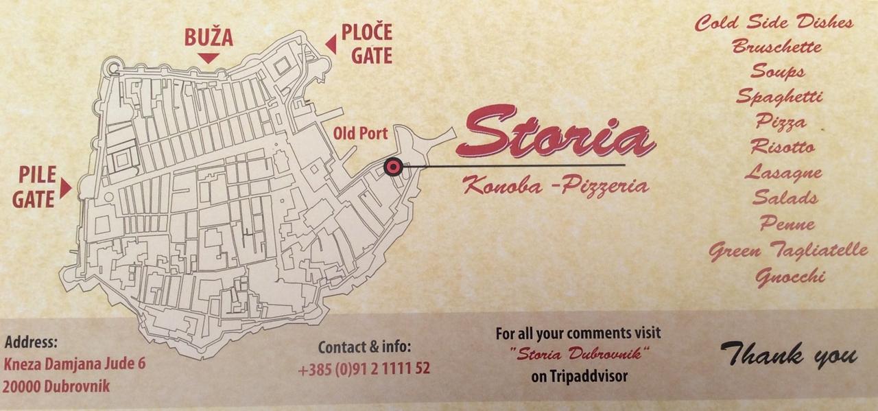 Dubrvnik a Pérola do Adriático Storia Restaurant