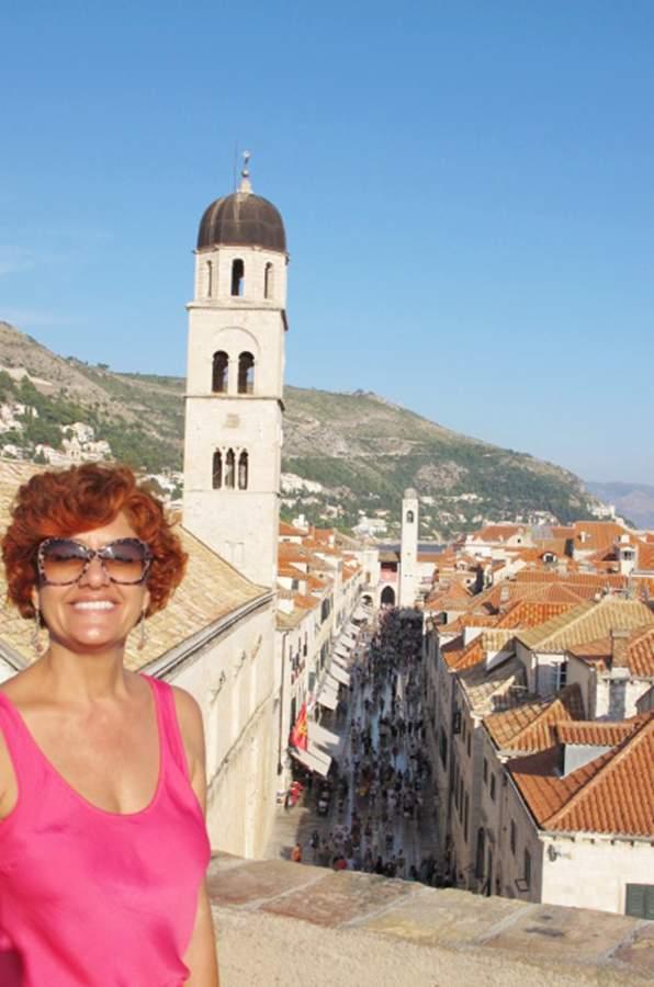 Dubrovnik Stradun Vista da Muralha