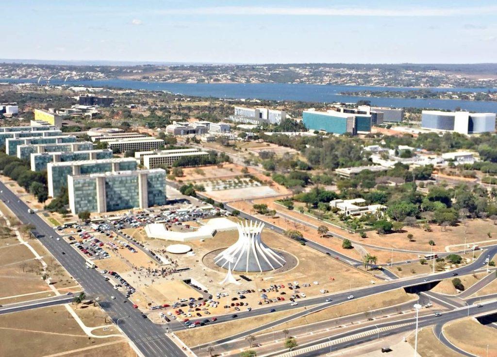 Brasília Vista de Cima Catedarl Ministerios