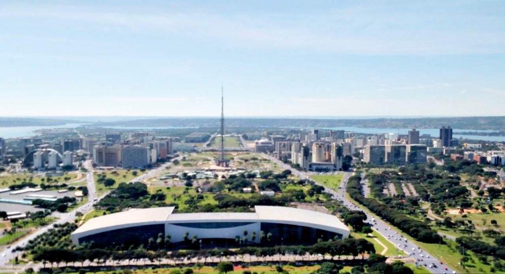 brasília vista de cima centro convencoes torre