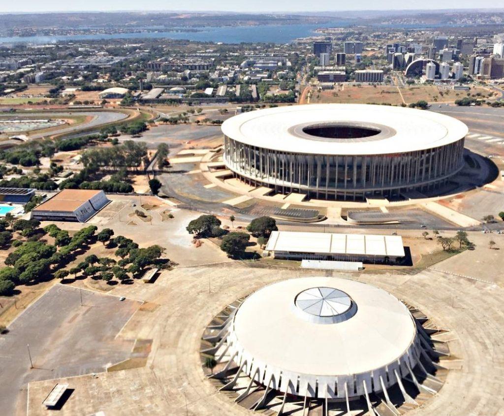 Brasília Vista-de Cima Setor Clube Sul Mané Garrincha
