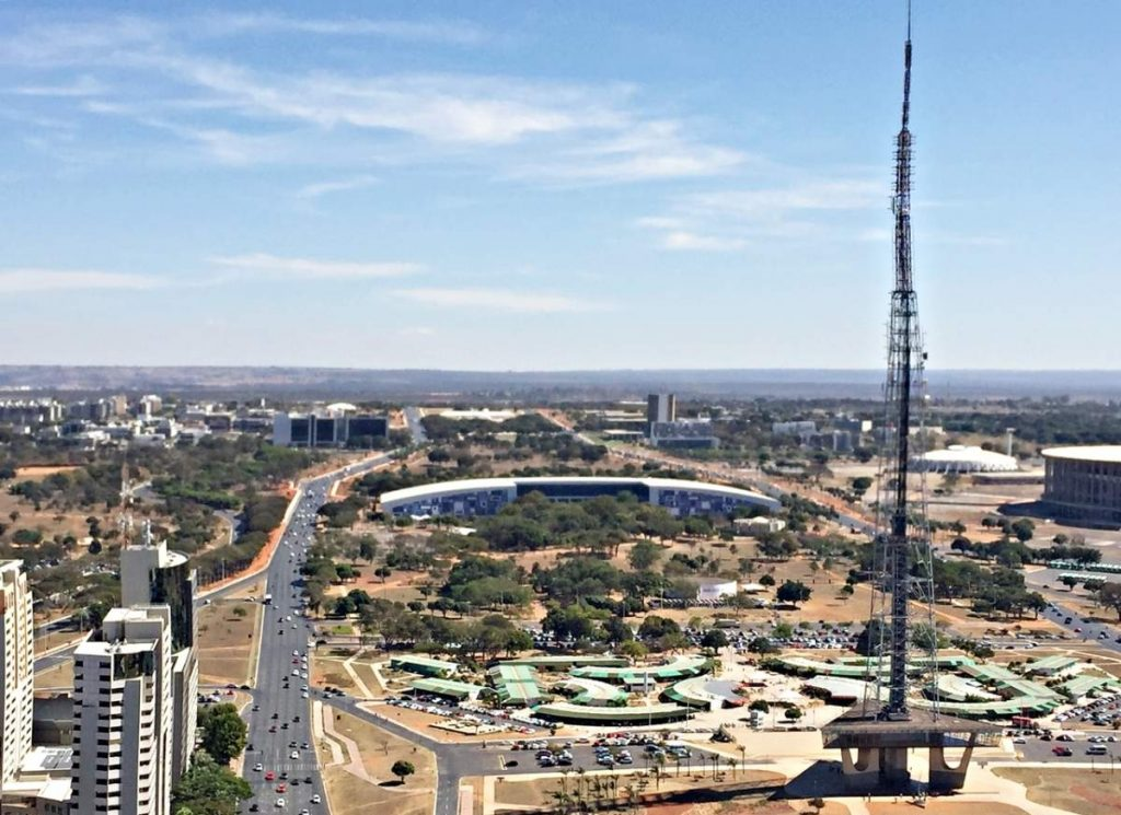 Brasília Vista-de Cima Setor Clube Sul Torre Centro Convencoes