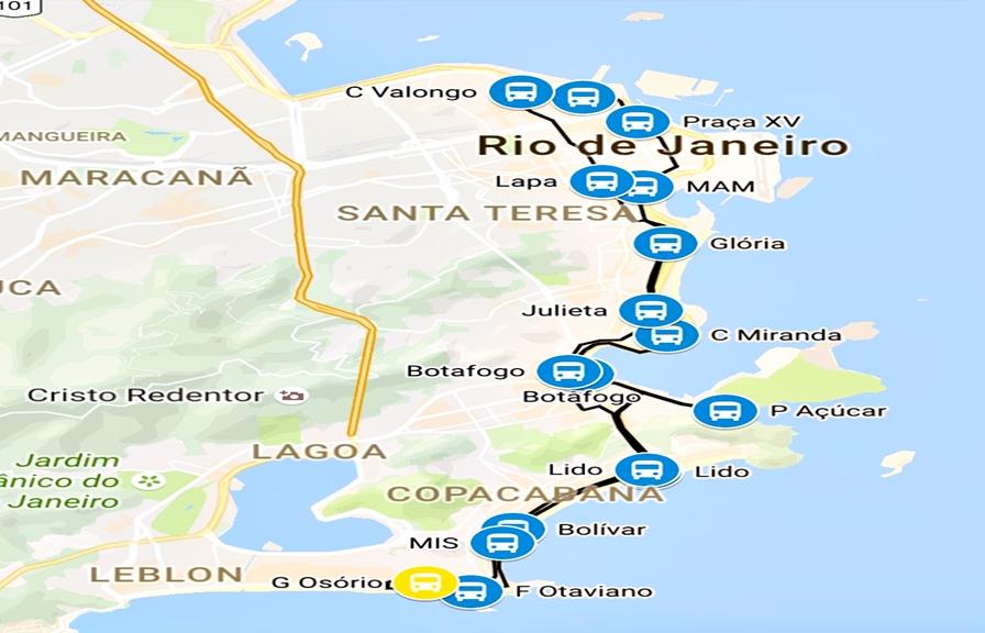 Ônibus Panorâmico Rio Roteiro
