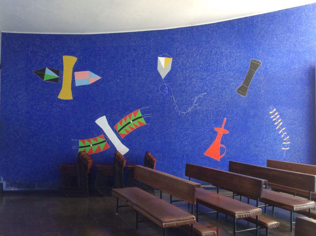 Igreja Nossa Senhora de Fatima interior pintura Volpi