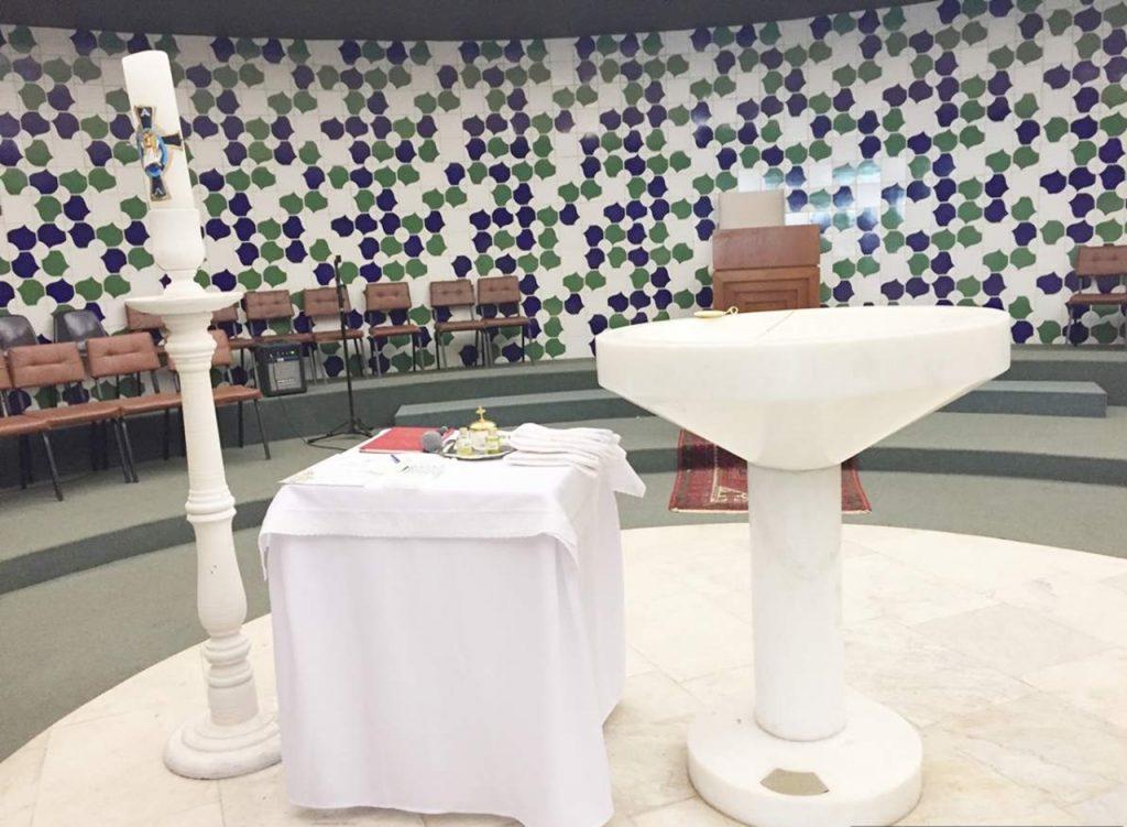 Brasilia Catedral Metropolitana Pia Batismal