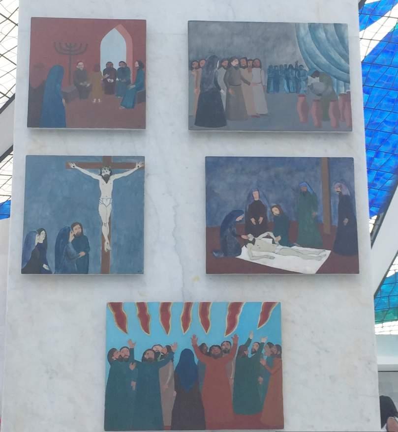 Brasilia Catedral Metropolitana Pinturas Bulcao