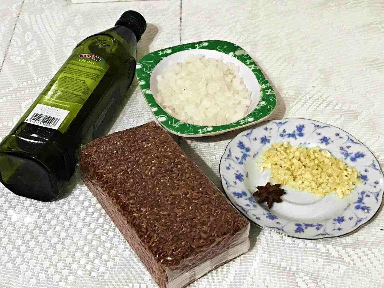 Arroz Vermelho - ingredientes