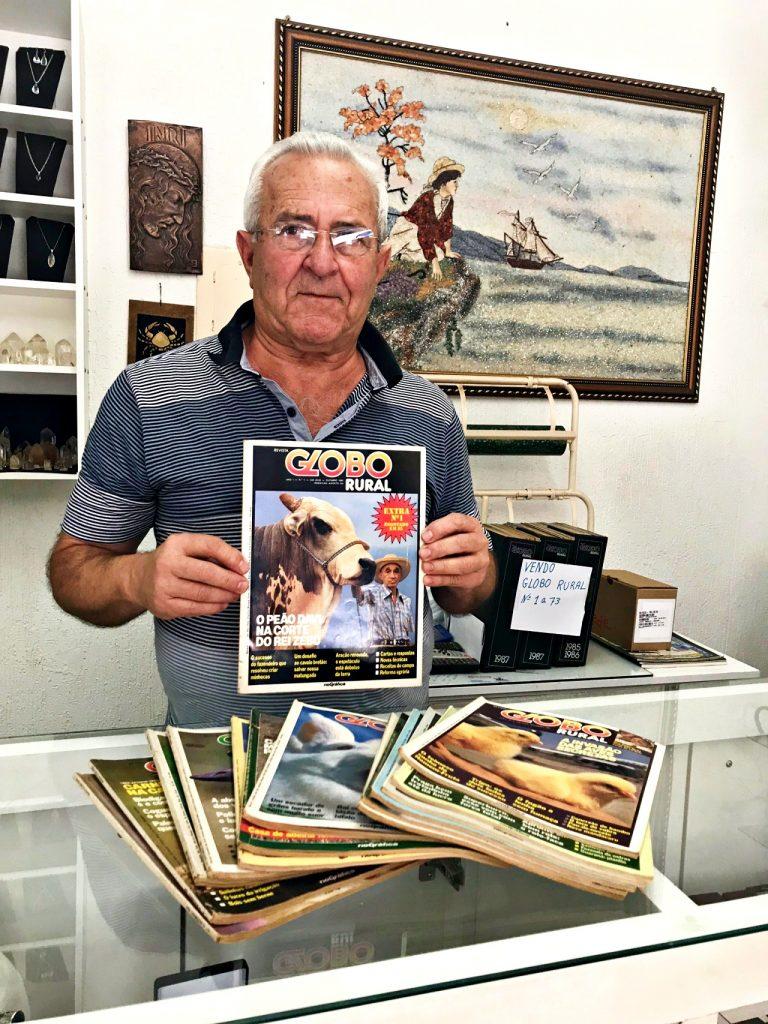 Osail Gusmão - colecionador da Revista Globo Rural
