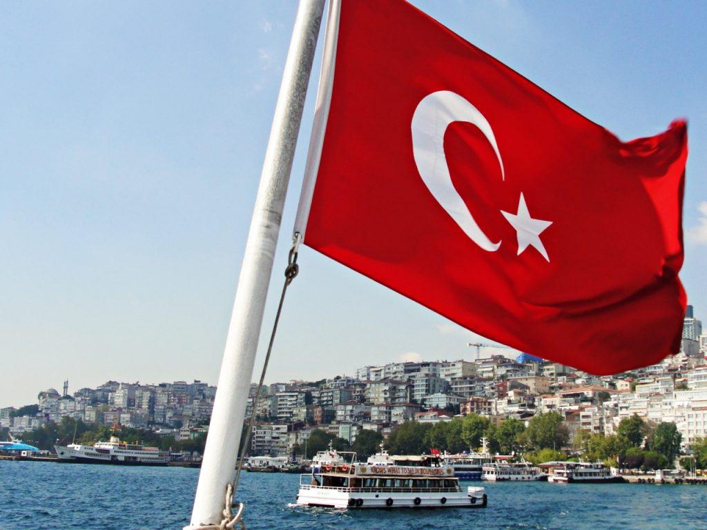 Istambul - bandeira da Turquia