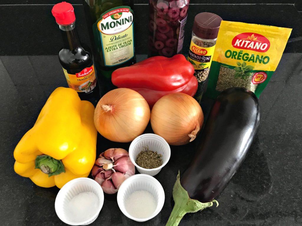 Antepasto de berinjela - Ingredientes