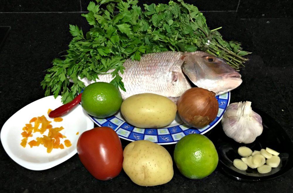 Peixe ao Forno com Purê Damasco - Ingredientes