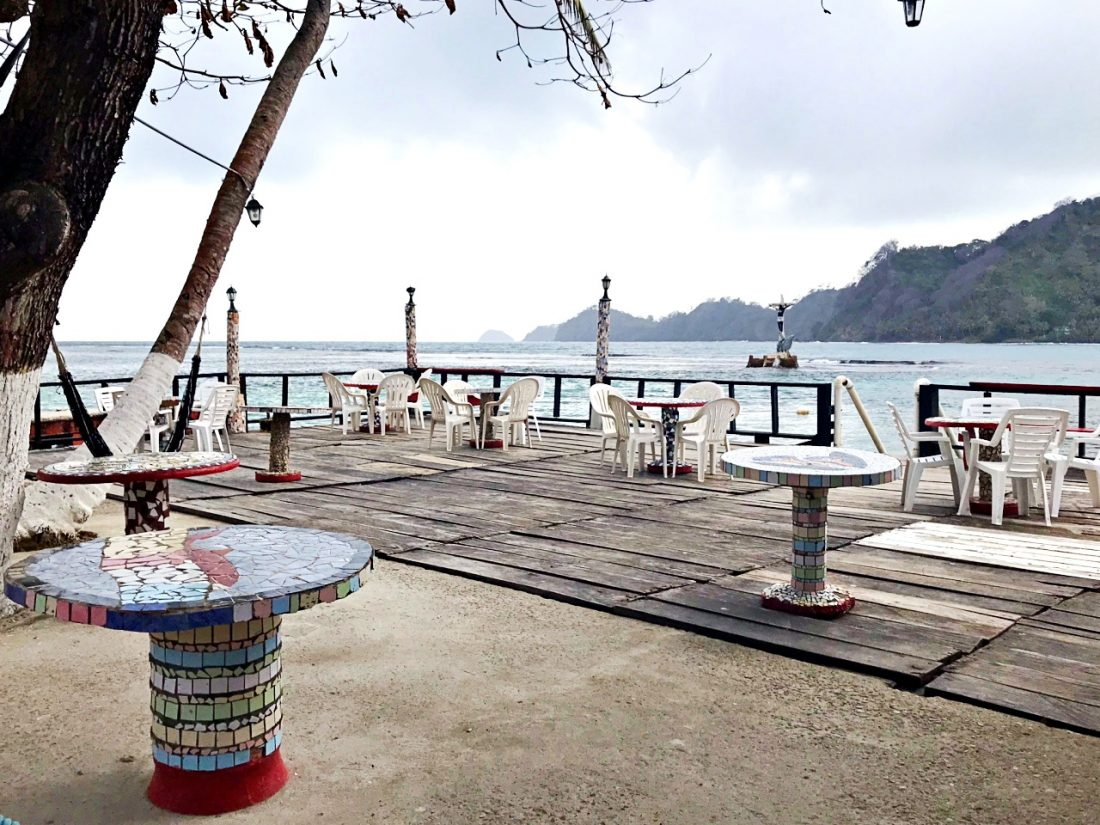 Isla Grande, restaurantes e vista