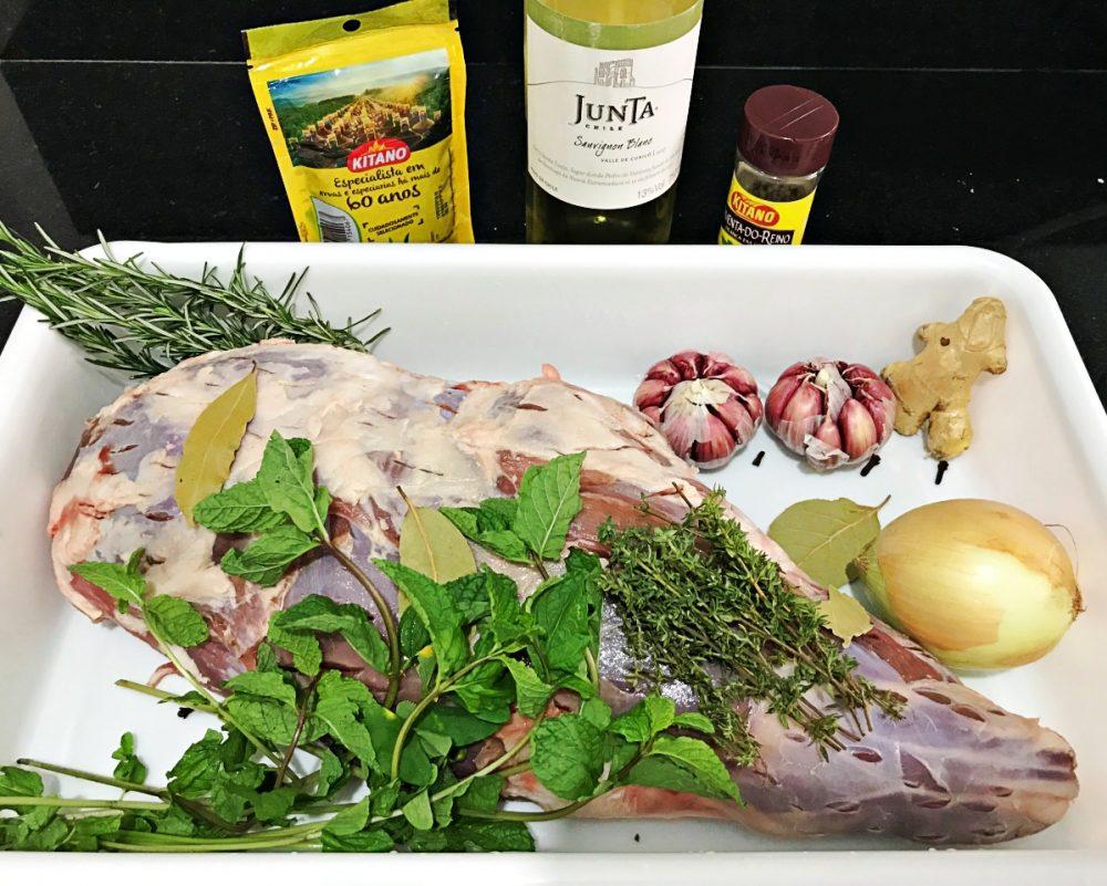 Pernil de cordeiro ao forno - ingredientes