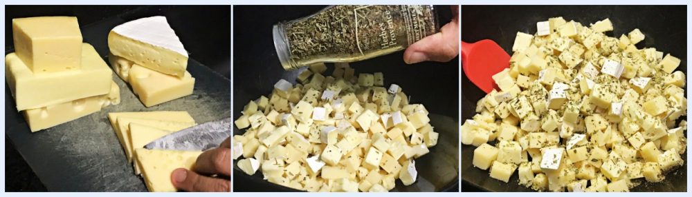 Picanha Invertida Recheada,- queijos
