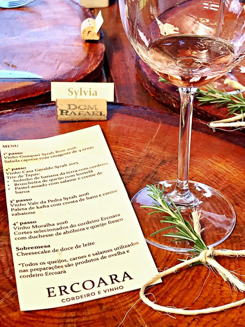 Fazenda Ercoara - menu