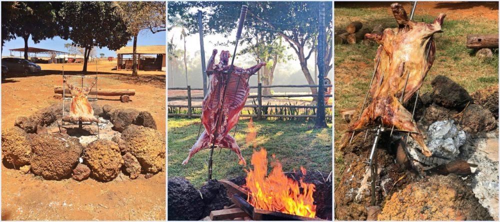 Fazenda Ercoara - cordeiro no fogo de chão