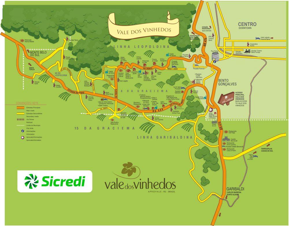 Vale dos Vinhedos - mapa