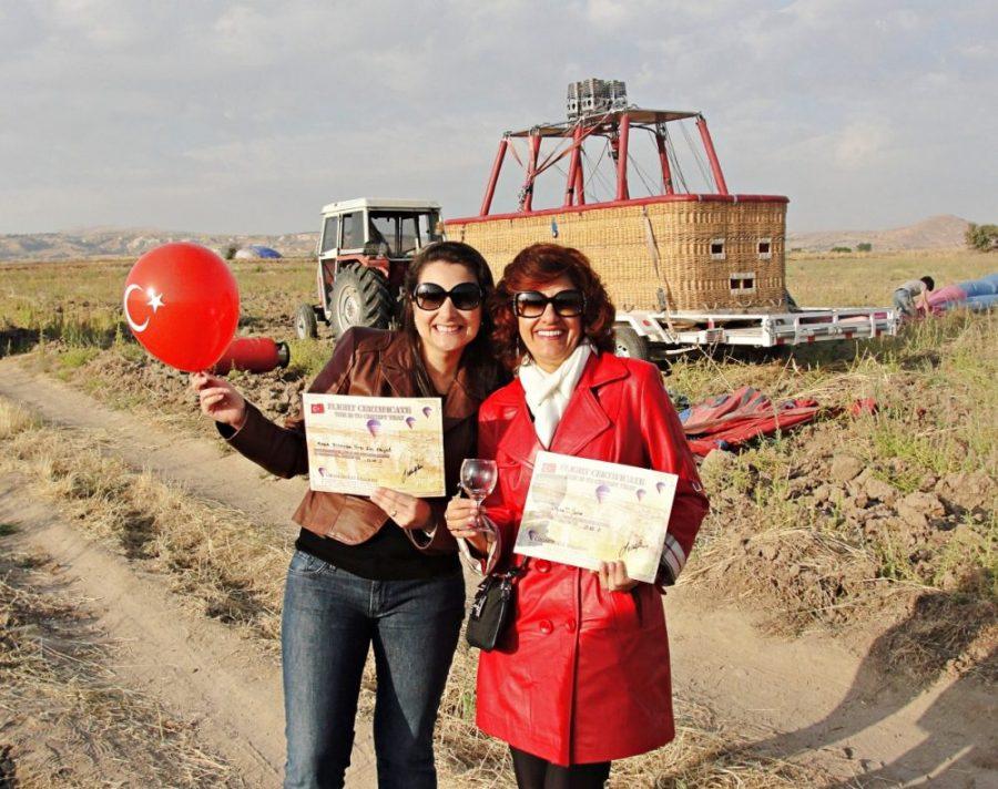 Capadócia - certificado do voo de balão