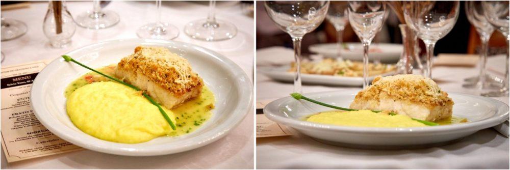 Restaurante Piantella - robalo com purê de baroa