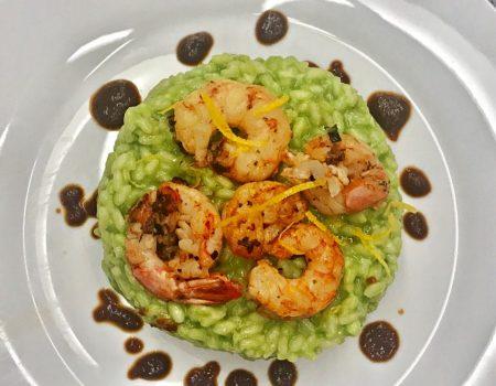 Risoto verde com camarão, receita – uma delícia