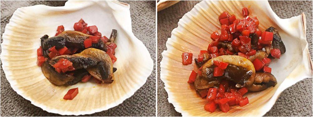 Vieiras Grelhadas em Cama de Champignon - cama de champignon