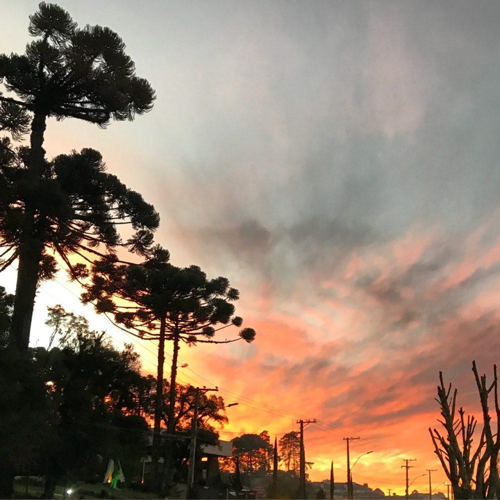 O pôr-do-sol em Canela
