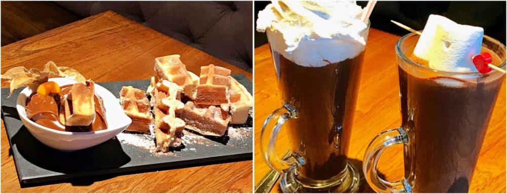 Gramado - Chocolate quente e wafel