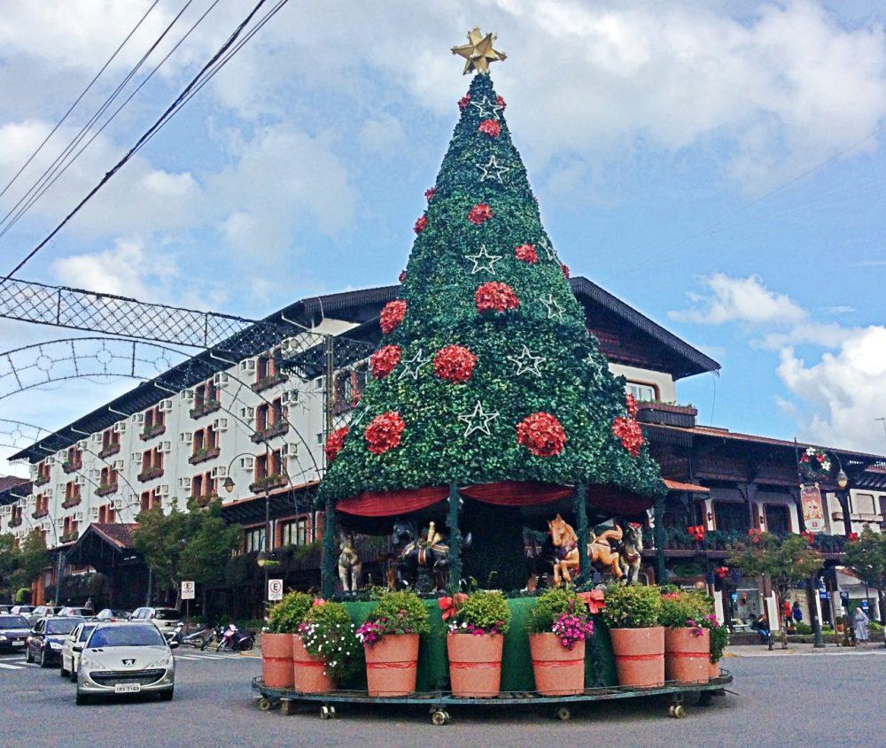 Gramado - centro decorado para o Natal