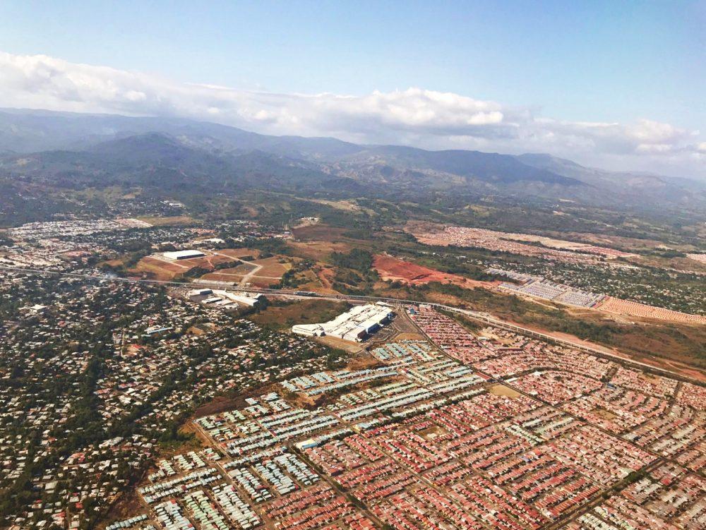 Cidade do Panamá, vista do avião