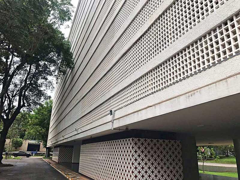 Atrações da quadra modelo 308 Brasília - cobogós