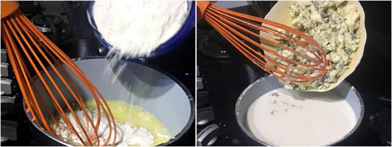 Bruschetta de Camarão com Gorgonzola - preparo