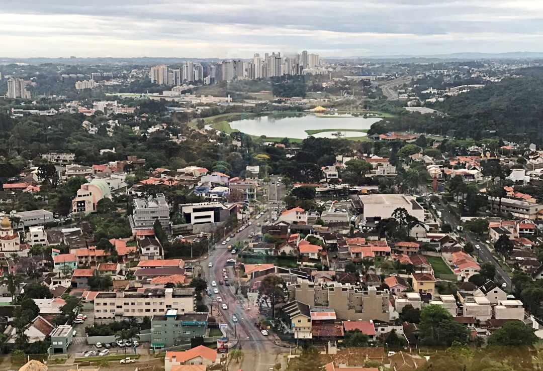 Curitiba, vista da Torre Panorâmica