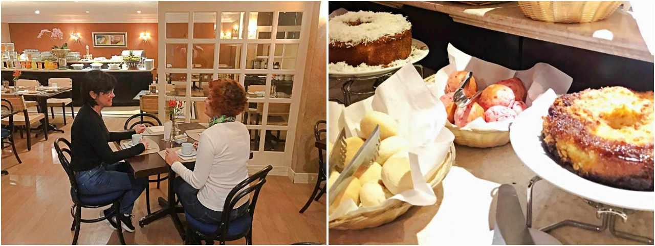 Onde se hospedar em Curitiba - Mabu Business Hotel, cafe da manhã