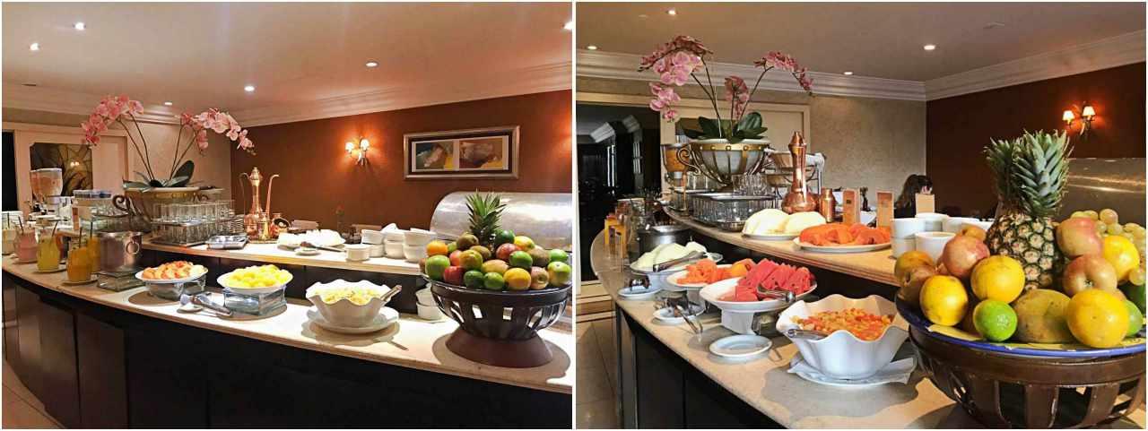 Onde se hospedar em Curitiba - Mabu Business Hotel, café da manhã