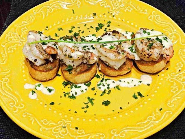 Camarão ao molho de Brie – receita