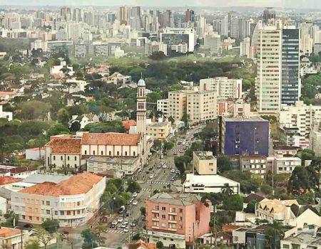 Curitiba vista de cima – visão panorâmica
