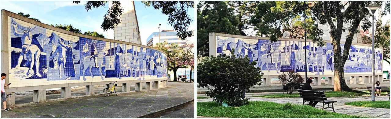 Painéis de Poty Lazzarato no Paraná -Praça 10 de Dezembro
