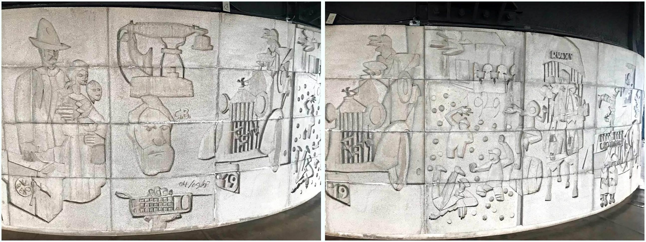 Painéis de Poty Lazzarotto no Paraná - As Comunicações e a História de Curitiba, Torre Panorâmica