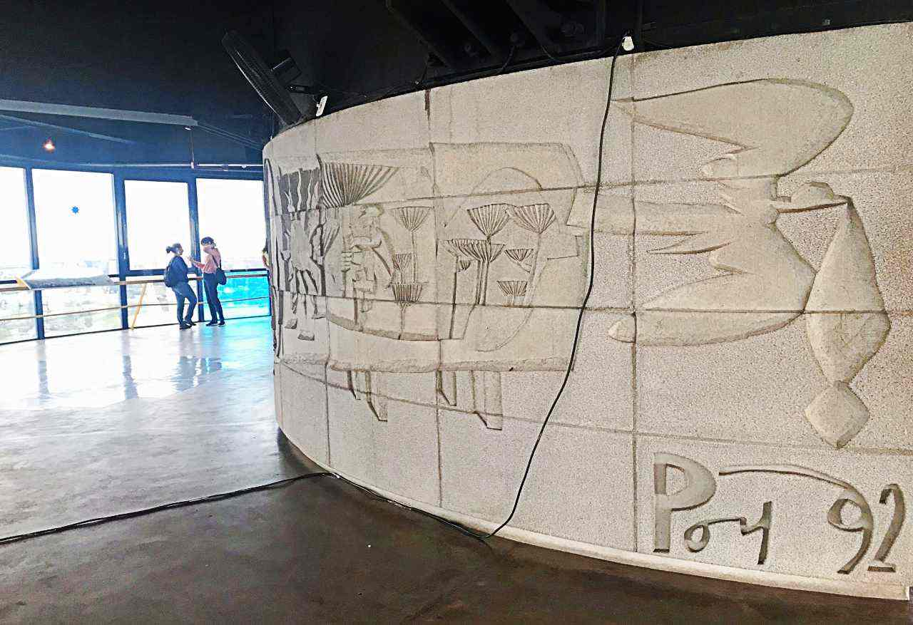 Painéis de Poty Lazzarotto - As Comunicações e a História de Curitiba, Torre Panorâmica