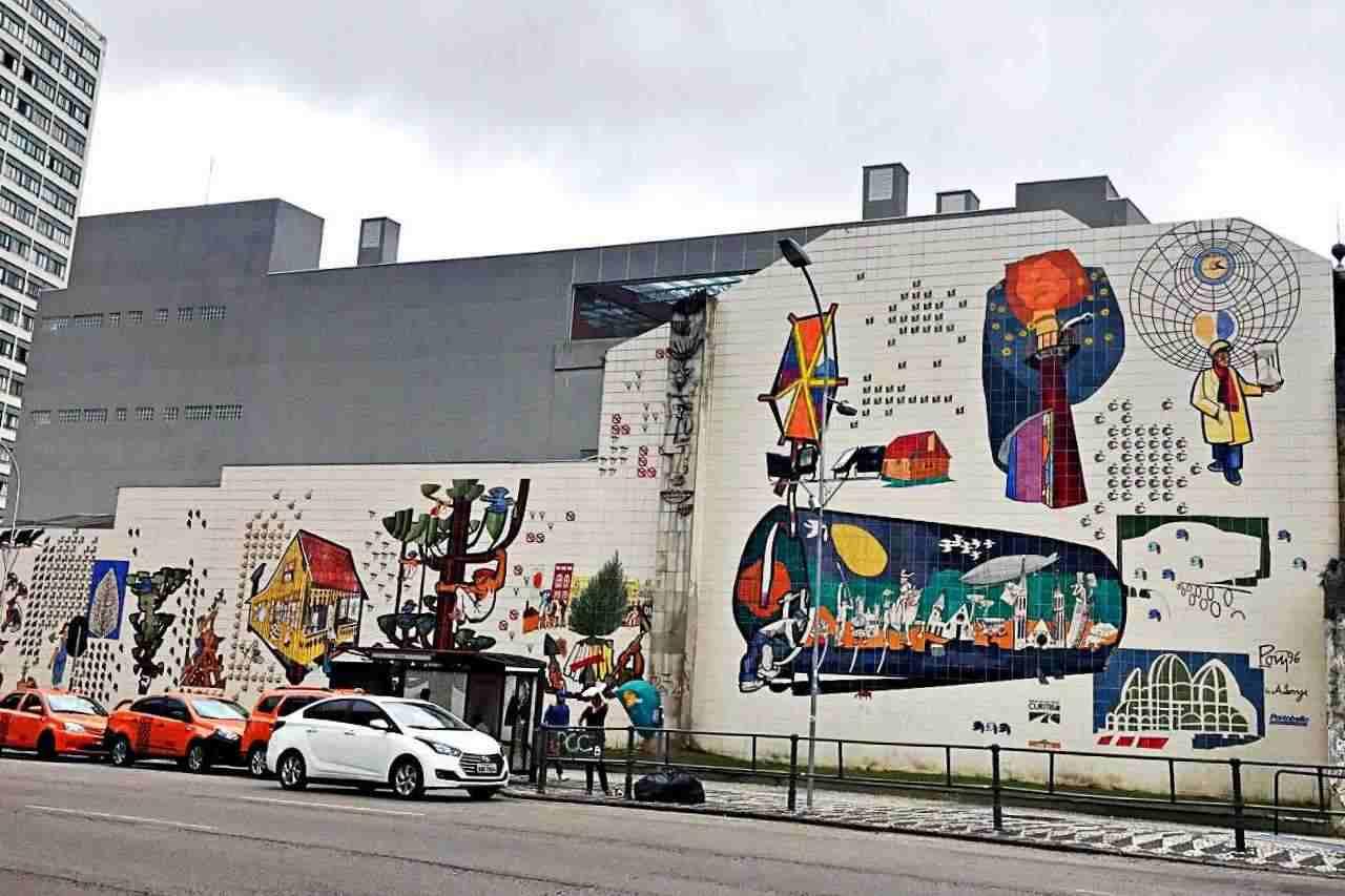 Painéis de Poty Lazzarotto no Paraná - Imagens da Cidade, Largo da Ordem