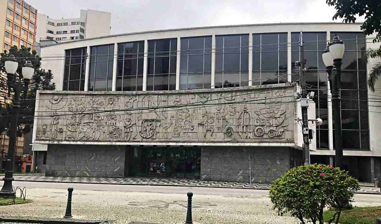 Painéis de Poty Lazzarotto no Paraná - Teatro no Mundo, Teatro Guaíra