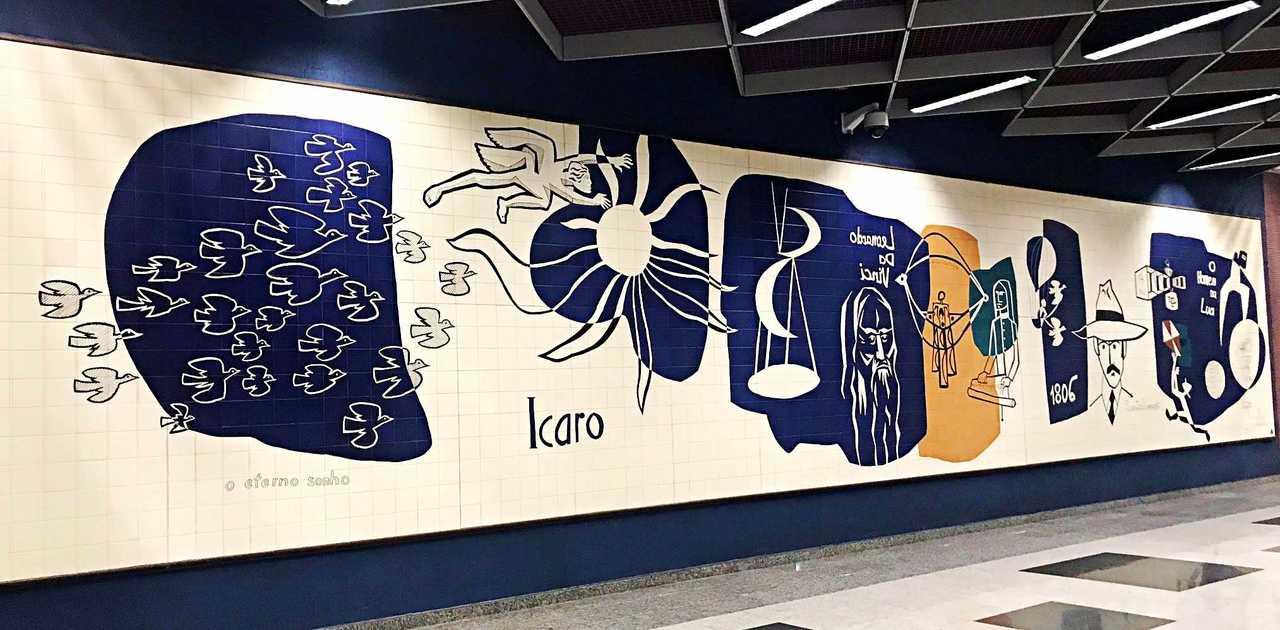 Painéis de Poty Lazzarotto no Paraná - Um Eterno Sonho, Aeroporto Internacional de Curitiba