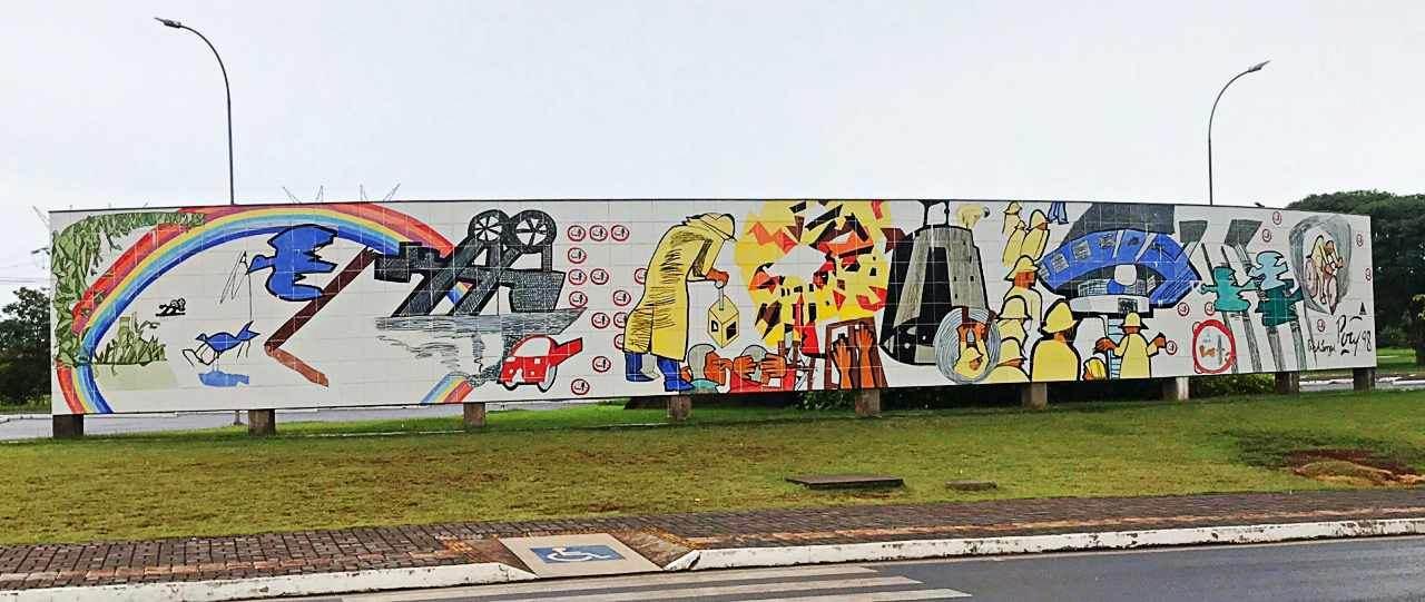 Painéis de Poty Lazzarotto no Paraná - O Barrageiro, Itaipu Binacional