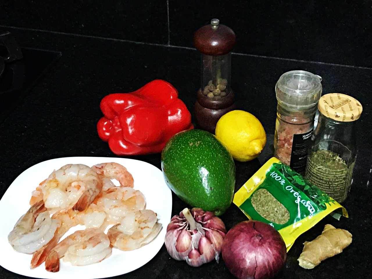 Tartar de Abacate com Camarão - ingredientes
